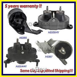 04-11 Chevy Malibu/ Pontiac G6/ Saturn Aura 3.5L Motor & Trans. Mount Set 4PCS
