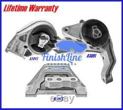 05-11 Chevy Cobalt, HHR, Pontiac G5 2.2, 2.4L Motor / Trans. Mount Set 3PCS Auto