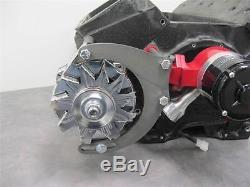 100 AMP Chrome Alternator w Big Block Chevy Mount Bracket Electric Water Pump