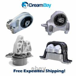 10-17 for Chevy Equinox 2.4L GMC Terrain Engine & Trans Mount 4PCS for Auto
