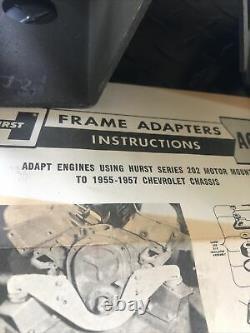 1955 through 1955 Chevrolet HURST frame adapters in box hot rod rat rod