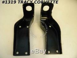 1956-1962 Corvette Engine Mount Bracket Frame Front Pair GM# 3711639 3711640
