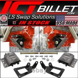 1973-1987 Chevy Square Body Truck LS Swap Engine Mount Kit for 2WD 4WD LS1 LS3