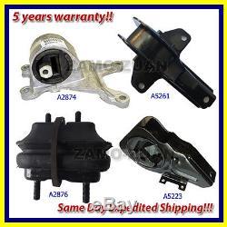 1997-2001 Chevrolet Malibu 2.4/ 3.1L Engine Motor & Trans. Mount Set 4PCS