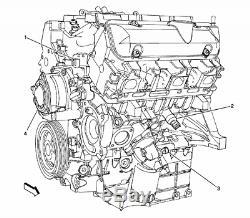 2006-2011 Lucerne Terraza Impala Malibu Monte Carlo Long Block Engine 3.9L V6 4B