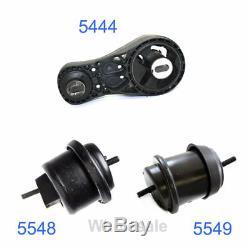 2009-2015 For Chevy Traverse GMC Acadia 3.6L Engine Motor Mount Set 3PCS M995