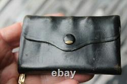30s 40s coin Holder antique vintage leather pouch
