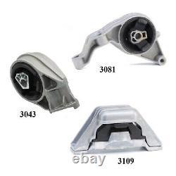 3 Pcs Motor & Trans Mount Fit 2006-2007, 2011 Chevrolet Hhr 2.2l & 2.4l Auto