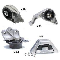 4 PCS MOTOR & TRANS MOUNT FIT 2006-2007, 2011 Chevrolet HHR 2.2L & 2.4L Auto