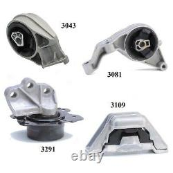4 PCS MOTOR & TRANS MOUNT FOR 2005, 2009-2010 Chevrolet Cobalt 2.2L Auto Trans