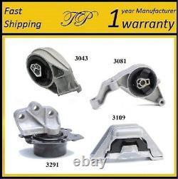 4 PCS MOTOR & TRANS MOUNT FOR 2006-2007, 2011 Chevrolet HHR 2.2L & 2.4L Auto