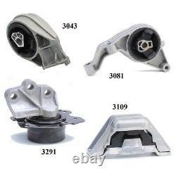 4 PCS MOTOR & TRANS MOUNT FOR 2008-2010 Chevrolet HHR 2.0L 2.2L & 2.4L Auto