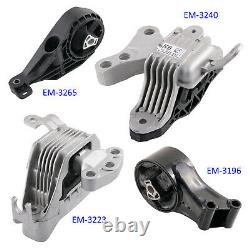 4pc Motor Mount Set for 11-16 Chevy Cruze 1.8L Engine Auto Transmission AT