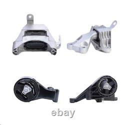 4pc Motor & Trans Mount For 2011-2015 Chevrolet Cruze 1.4l Fast Free Shipping