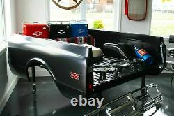 63-67 Chevy Truck Black Tubular V8 Engine Mounts with Polyurethane 350-454