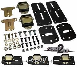 63-67 Chevy Truck LS Engine Conversion Motor Mounts with Trans Crossmember