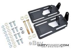 Dirty Dingo Adjustable Engine Swap Mounts LS Swap 74-90 Various Chevy Cars Black