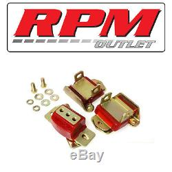 Energy Suspension 3.1120r Red Engine & Trans Mounts For 1970-1971 Chevy Nova 350