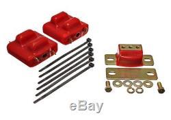 Energy Suspension 3.1128R 2 Motor Mounts & 1 Transmission Mount (Zinc Finish)