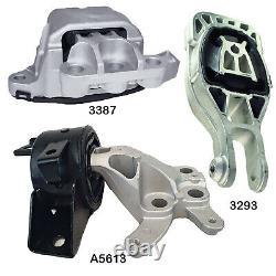 Engine & Auto Trans Mounts Set 3Pcs fit Buick 42476587, 95248684, 95418204 FWD