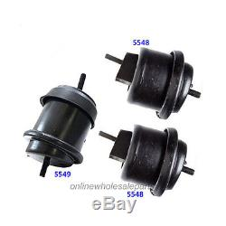 Engine Motor Mount Set 3 M1015 55482 5549 For Chevy Traverse GMC Acadia 3.6L