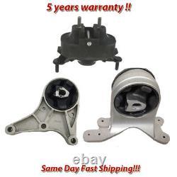 Engine Motor & Trans Mount 3PCS. 07-12 for Chevy Pontiac Saturn, Malibu G6 Aura