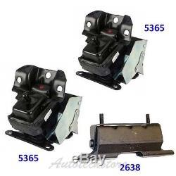 Engine Trans Motor Mount Set 3 For Cadillac Chevrolet GMC Yukon 2638 53652 M872