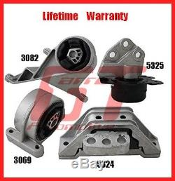 FitsTransmission Engine Mounts Front Right Rear Set 3.4L Chevrolet Equinox