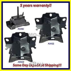Fits 03-14 Chevy Express/ GMC Savana 4.3L Engine Motor & Trans. Mount Set 3PCS