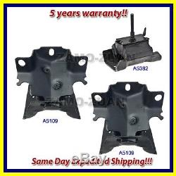 Fits 2003-2011 Chevrolet Express/ GMC Savana 2WD Motor & Trans. Mount Set 3PCS