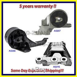 Fits 2004-2005 Chevrolet Malibu 2.2L Engine Motor & Trans. Mount Set 3PCS