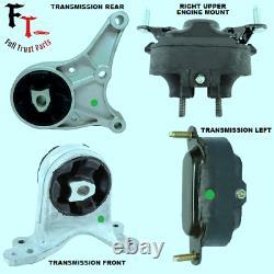 For 2008-2012 Chevrolet Malibu 3.6l, V6 Set Of 4 Engine & Transmission Mounts