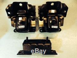 Front Motor Mounts & Trans Mount 3PCS Set for 07-12 Chevy Suburban 5.3L/6.0L 4WD