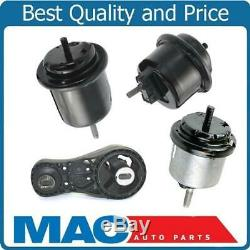 Front & Rear Motor Engine Mount New Fits 09-17 Traverse Acadia 3.6L 4pc Kit