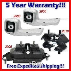 L729 Fits 2005-2009 Chevrolet Uplander 3.5L 3.9L Motor & Trans Mount Set 4pcs