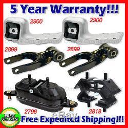 L743 Fits 1997-2005 Chevrolet Venture 3.4L 2WD, Motor & Trans Mount Set 6pcs