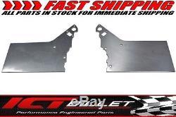LSX Front Engine Plate 2 piece Aluminum Chevy Solid Motor Mount Block LS LS1