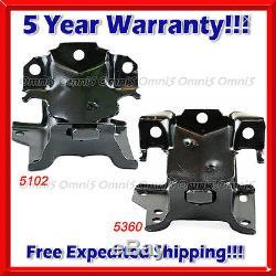 M248 Fit 01-10 Silverado/ Sierra 2500HD 3500 3500HD 6.6L Front Motor Mount Set