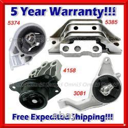 M494 Fits 06-10 Chevrolet Cobalt 2.2L/ 06-08 2.4L, AUTO Motor & Trans Mount Set