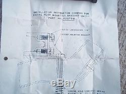 NOS 1937 1946 Chevy Truck ENGINE REAR MOUNTING BRACKET UNIT Original GM COE
