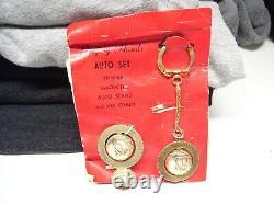 NOS Vintage original Dash key Praying hands auto accessory GM Chevy Ford 1950s