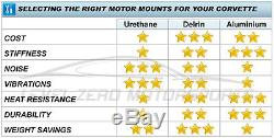 New Pair Solid Delrin Motor Engine Mounts C5 C6 Chevrolet Corvette 1997 2013