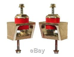 Prothane Motor Mounts Complete Steel Natural Polyurethane Red Chevy 6.2L Pair