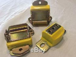 SUPER RARE! Yellow Short/Wide Chevrolet Motor & Trans Mounts by Engery 3.1120Y