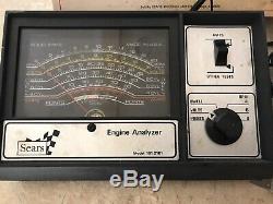 Sears 282161 Vintage 70s 80s sears Engine tune-up tester meter Analyzer