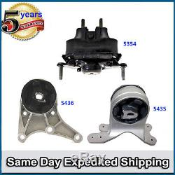 Trans Engine Motor Mount Set 5354 5435 5436 M996 Chevrolet Pontiac Saturn 3.6L