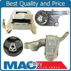 Transmission Engine Motor Mount Kit Set 4pc Fits 2010-2015 Chevy Cruze Manual