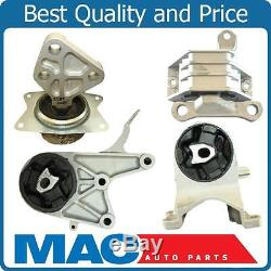 Transmission Engine Motor Mount Set 4 Fits 09-12 Chevy Malibu 2.4L 6 Speed Auto