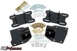 UMI Performance 68-72 GM A Body LSX Motor Mount Brackets LS1 LS2 LS7 Black