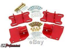 UMI Performance 68-72 GM A Body LSX Motor Mount Brackets LS1 LS2 LS7 Red